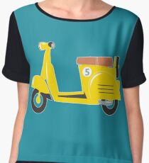 Little yellow toy scooter Chiffon Top