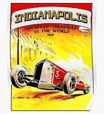 Indianapolis: Vintage 1930 Auto Racing Werbung Print Poster