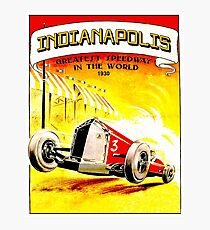 INDIANAPOLIS : Vintage 1930 Auto Racing Advertising Print Photographic Print