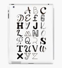 Alphabet Typography iPad Case/Skin