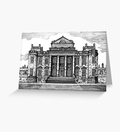 192 - SEATON DELAVAL HALL - DAVE EDWARDS - INK - 1992 Greeting Card