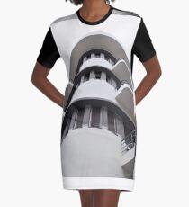 Bauhaus style rounded corners Graphic T-Shirt Dress
