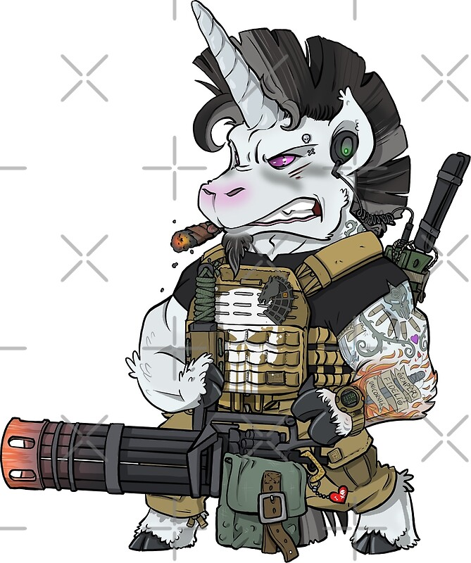 Pósters «Thunderhoof - Tactical Unicorn Einhorn Punisher» de ...
