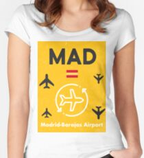 MADrid airport tag Women's Fitted Scoop T-Shirt