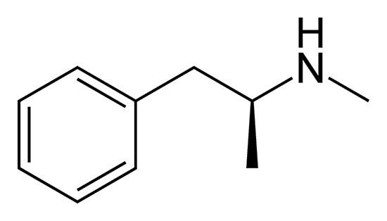 N-Methyl-1-phenylpropan-2-amin-Skelettstruktur\