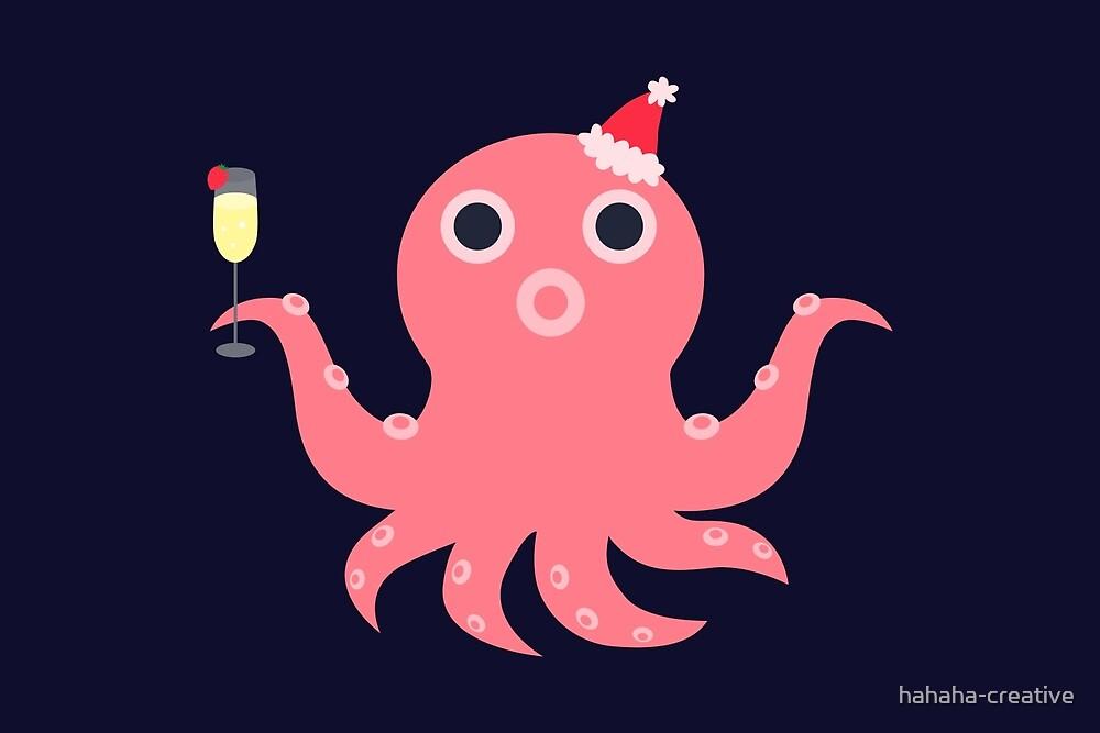 festive octopus_christmas by hahaha-creative