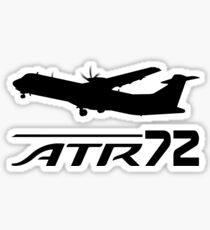 ATR72 - Silhouette (Black) Sticker