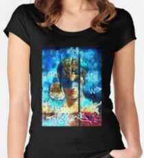 'Greek Goddess' Digital painting Women's Fitted Scoop T-Shirt