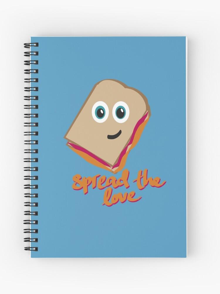 Difunde El Sandwich De Amor Dibujos Animados De Comida Cuaderno De Espiral