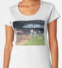 Al Schacht & Nick Altrock at MLB Opening game in Griffith Stadium in Washington D.C., 1924 Premium Scoop T-Shirt