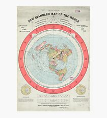 Conspiracy theory wall art redbubble flat earth society world map photographic print thecheapjerseys Image collections