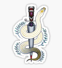 snake and dagger Sticker