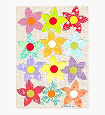 DECORATIVE FLOWERS Photographic Print