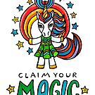 Claim Your Magic - Unicorn - Animals of Inspiration series by mellierosetest