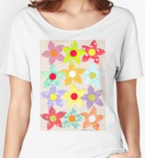 DECORATIVE FLOWERS Women's Relaxed Fit T-Shirt