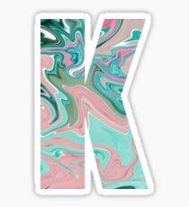 Paint letter K sticker Sticker