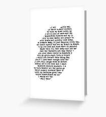 Rolling Stones - Paint it black Lyrics white Greeting Card