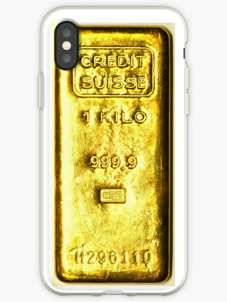 detailed look 79ecc f1511 'gold bar' iPhone Case by jackcaz