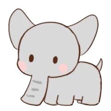 otro pequeño elefante de stickersnstuff