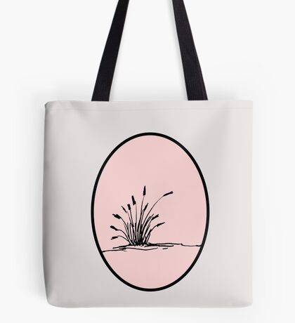 Reed silhouette pink cameo Tote Bag