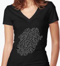 Rolling Stones - Paint it black Lyrics black Women's Fitted V-Neck T-Shirt