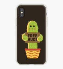 Free Hugs Cactus iPhone Case