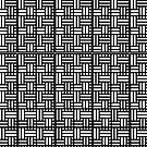 Basketweave black and white pattern by HEVIFineart