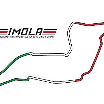 Autodromo di Imola - C&A RaceTracks by ColorandArt-Lab