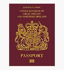 NDVH EU UK Passport Photographic Print