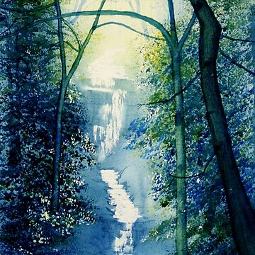Chinese Waterfall by GlennMarshall