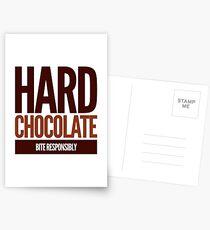 Hard Chocolate Bite Responsibly Postcards