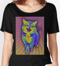Psychedelic Kitty (Remaster) Women's Relaxed Fit T-Shirt