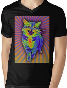 Psychedelic Kitty (Remaster) Mens V-Neck T-Shirt
