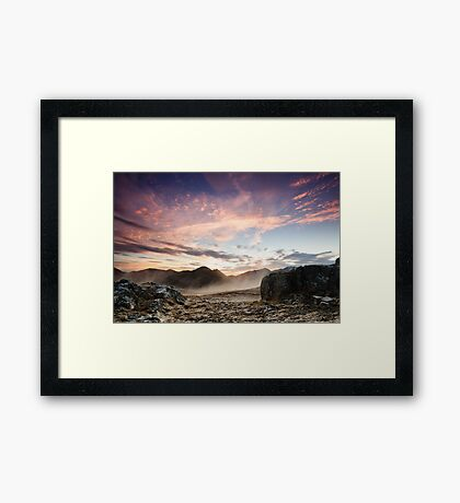 The Devil's Sunset Framed Print