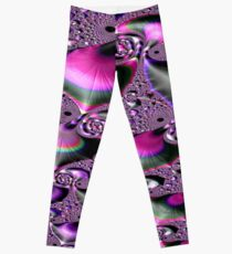 School of Tropical Diving Fish Fractal Leggings