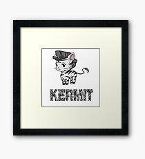 Zebra Kermit Framed Print