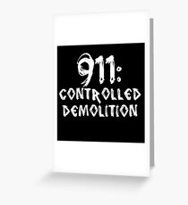 911: Controlled Demolition Greeting Card