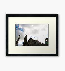 the historic rock of Cashel landmark Framed Print