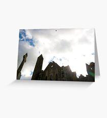 the historic rock of Cashel landmark Greeting Card