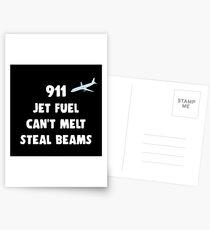911 Jet Fuel Can't Melt Steal Beams Postcards