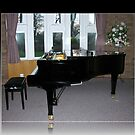 As Shadows Fall - Grand Piano In Reflection Frame von BlueMoonRose