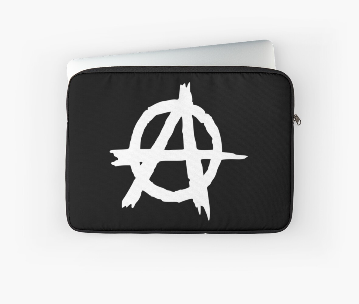 Anarchy Symbol Laptop Sleeves By Mark5ky Redbubble