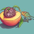 Peach-a-boo! by ElinJ