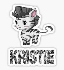Zebra Kristie Sticker