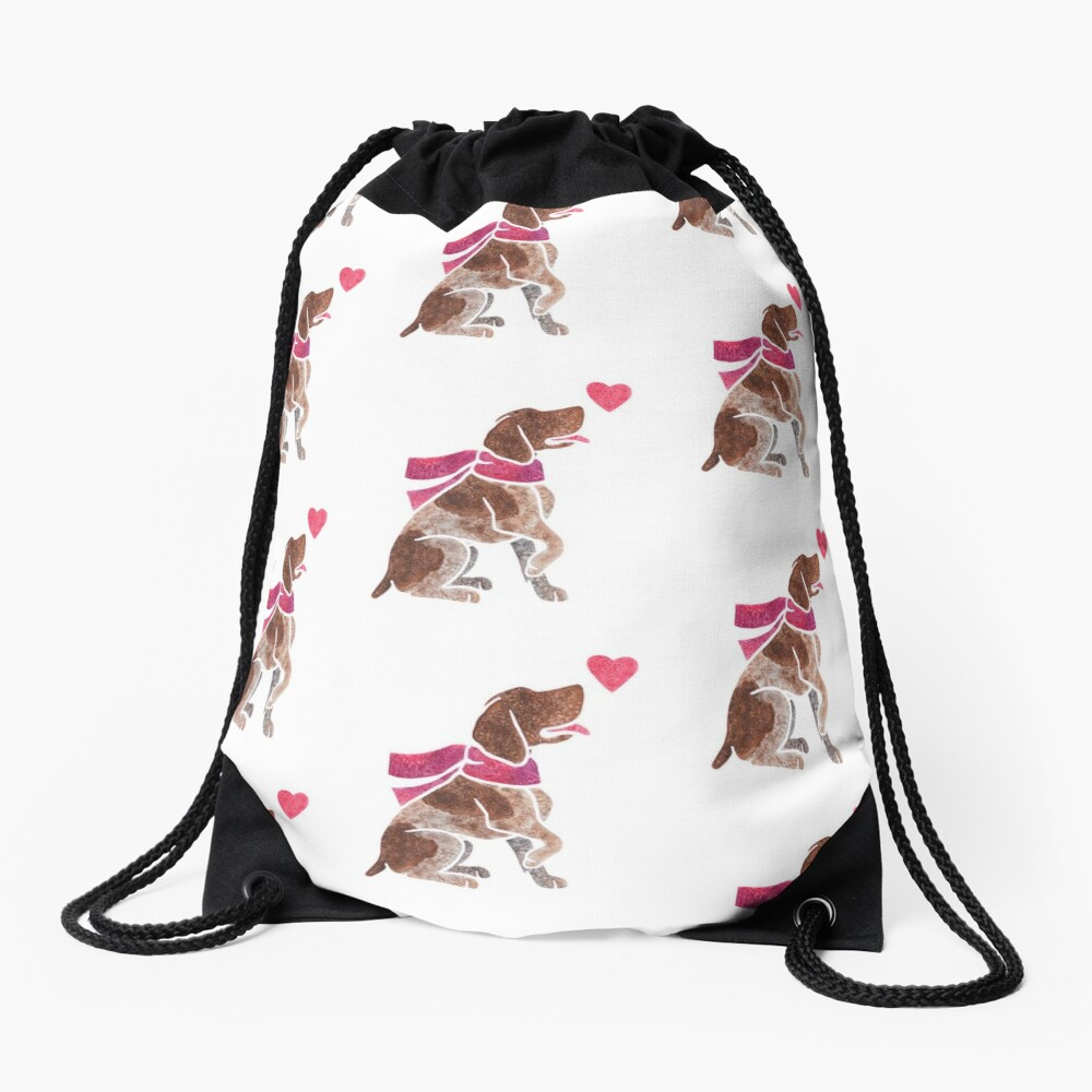 Watercolour German Pointer Drawstring Bag