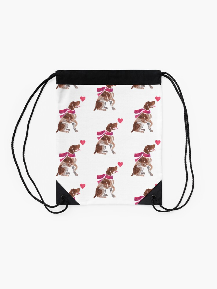 Alternate view of Watercolour German Pointer Drawstring Bag