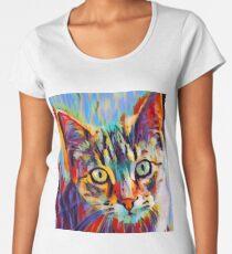 Tabby Portrait Women's Premium T-Shirt