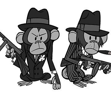 Karl Pilkington Mafia Monkeys by pilky01