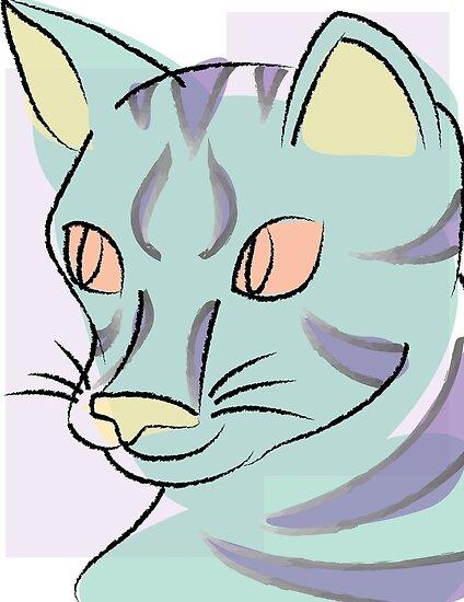 Pastell Katze von hayleyeener