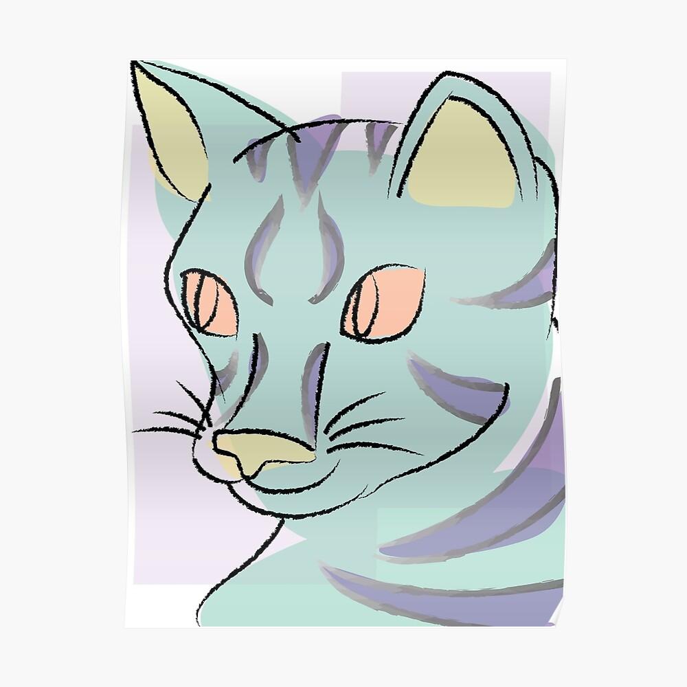 Pastell Katze Poster